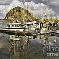 Harbor Reflection Impasto by Sharon Foster