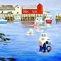 Harbor Scene by Deborah Butts