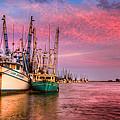 Harbor Sunset by Debra and Dave Vanderlaan