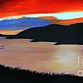 Harbour Sunset by Barbara Griffin