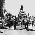 Hard Hat Pro-viet Nam War March Saluting Cops Tucson Arizona 1970 Black And White by David Lee Guss