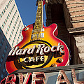 Hard Rock Cafe Guitar Sign In Philadelphia by Bill Cannon