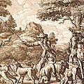 Hare Hunting, Engraved By Wenceslaus by Francis Barlow