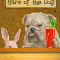 Hare Of The Dog...the Bulldog... by Will Bullas