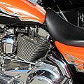 Harley Close-up Orange 1 by Anita Burgermeister