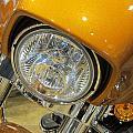 Harley Close-up Yellow 2 by Anita Burgermeister