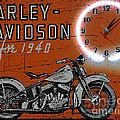 Harley Davidson 1940s Sign by Marvin Blaine