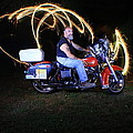 Harley Davidson Light Painting by Gary Keesler