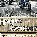 Harley-davidson Montage by Photographic Art by Russel Ray Photos