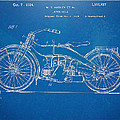 Harley-Davidson Motorcycle 1924 Patent Artwork by Nikki Marie Smith