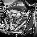 Harley Davidson Motorcycle Harley Bike Bw  by Rich Franco