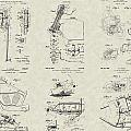 Harley-davidson Motorcycle Patent Collection by PatentsAsArt