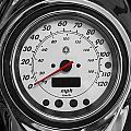 Harley Davidson Motorcycle Speedometer Harley Bike Bw  by Rich Franco