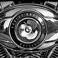Harley-davidson Police B And W by Cricket Hackmann
