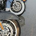 Harley Line Up Rain by Anita Burgermeister