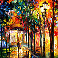Harmony - Palette Knife Oil Painting On Canvas By Leonid Afremov by Leonid Afremov