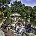 Harpist - Central Park by Madeline Ellis