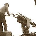 harpoon gun Moss Landing whaling Monterey Bay circa 1920 by California Views Archives Mr Pat Hathaway Archives