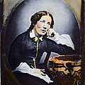 Harriet Beecher Stowe (1811-1896). American Abolitionist And Writer. Oil Over A Daguerrotype, C1852 by Granger