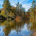 Harris Lake In Autumn by John M Bailey