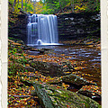 Harrison Wright Falls In Autumn by Rich Walter