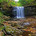 Harrison Wright Falls In Early Fall by Rich Walter