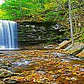 Harrison Wright Falls Panorama by Rich Walter