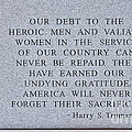 Harry S Truman Quote Memorial by Janice Pariza