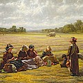 Harvesters Resting In The Sun, Berkshire, 1865 Oil On Canvas by Walter Field