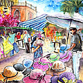 Hat Shopping At Turre Market by Miki De Goodaboom