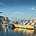 Hatteras Harbor Marina by Williams-Cairns Photography LLC