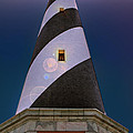 Hatteras Lighthouse At Night by Mary Almond