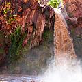 Havasu Falls Study 2 During Flash Flood by Robert Meyers-Lussier