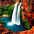 Havasue Falls Grand Canyon by Bob and Nadine Johnston