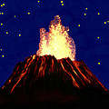 Hawaian Vulcano At Night by Bruce Nutting