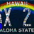 Hawaii License Plate by Jeelan Clark