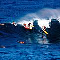 Hawaii Oahu Waimea Bay Surfers by Anonymous