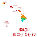 Hawaii State Map Collection 2 by Andee Design
