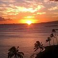Hawaii Waikiki Sunset by Kevin Brown