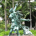 Hawaiian Dancers Statues by Elaine Haakenson