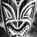 Hawaiian Mask Negative Black And White by Rob Hans
