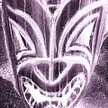 Hawaiian Mask Negative Pink by Rob Hans