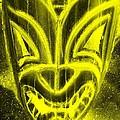 Hawaiian Mask Negative Yellow by Rob Hans