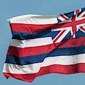 Hawaiian State Flag, Oahu, Hawaii by Michael Defreitas