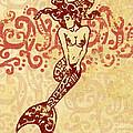 Hawaiian Style Mermaid by William Depaula