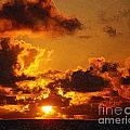 Hawaiian Sunrise by Flamingo Graphix John Ellis