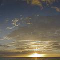 Hawaiian Sunset Panorama by Philip Rispin