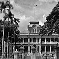 Hawaii's Iolani Palace In Bw by Craig Wood