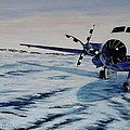 Hawker - Airplane On Ice by Marilyn  McNish