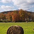 Hay Bale In Country Field by Christina Rollo
